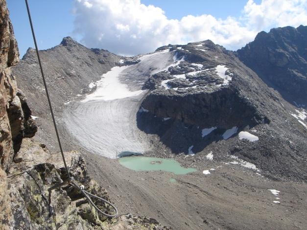 Foto: Manfred Karl / Klettersteig Tour / Südwand Klettersteig auf die Tschenglser Hochwand / Schafberg und Kleiner Angelus / 22.08.2009 21:12:10