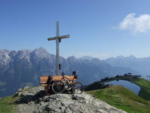Foto: hofsab / Mountainbike Tour / Rund um das Spielberghorn über Asitzkopf (1914 m) und Schreiende Brunnen / die Leoganger Steinberge / 28.08.2009 19:03:50