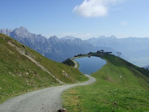 Foto: hofsab / Mountainbike Tour / Rund um das Spielberghorn über Asitzkopf (1914 m) und Schreiende Brunnen / sehr steil gehts auch wieder runter / 28.08.2009 19:04:13
