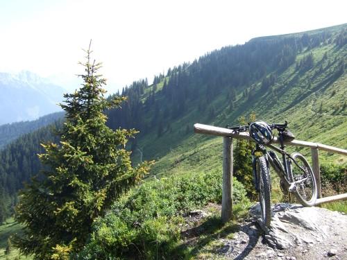 Foto: hofsab / Mountainbike Tour / Rund um das Spielberghorn über Asitzkopf (1914 m) und Schreiende Brunnen / das letzte Stück bergauf wird geschoben / 28.08.2009 19:05:35
