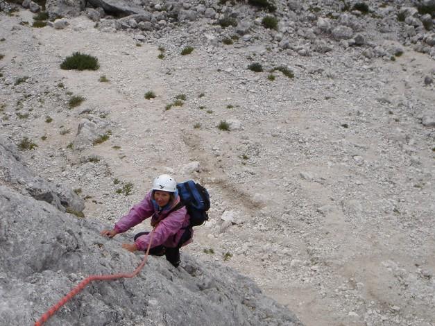 Foto: Manfred Karl / Kletter Tour / Alpinikante / Einstiegsrampe / 28.08.2009 21:26:14