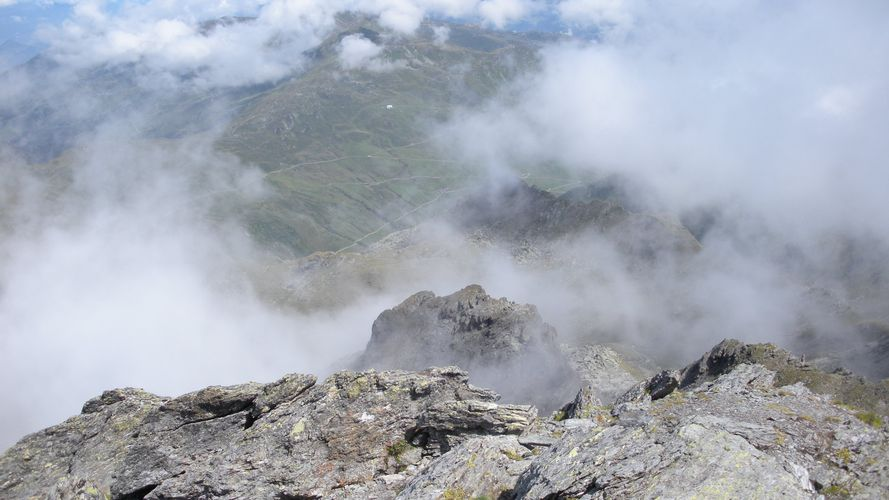 Foto: mark1980 / Wander Tour / Rastkogelhütte - Rastkogel (2762m) / Blick vom Gipfel auf die Rastkogelhütte / 29.08.2009 09:47:20