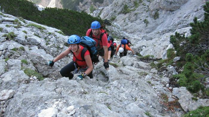Foto: winsch / Klettersteig Tour / Prisojnik Fensterweg / im Mittelteil der Tour / 29.08.2009 16:40:25