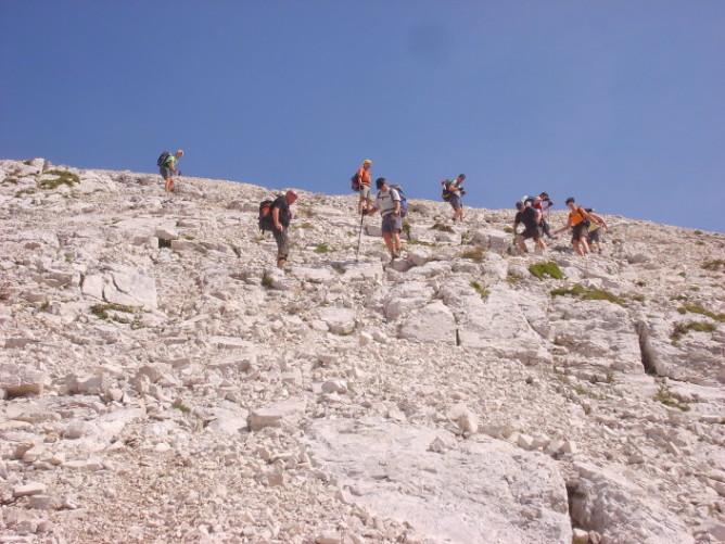 Foto: winsch / Klettersteig Tour / Klettersteig Mala Mojstrovka / Abstieg vom Gipfel / 29.08.2009 17:06:09