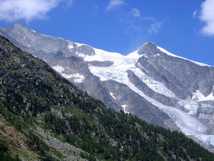 Foto: Andreas Koller / Klettersteig Tour / Erlebnisweg Almagellerhorn (1999 m) / Nadelhorn (4327 m) und Ulrichshorn (2925 m) / 07.09.2009 23:12:41