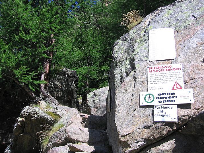 Foto: Andreas Koller / Klettersteig Tour / Erlebnisweg Almagellerhorn (1999 m) / 07.09.2009 23:11:33