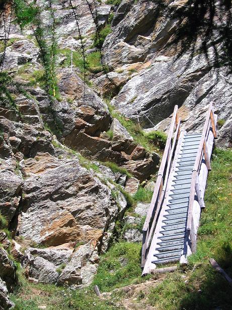 Foto: Andreas Koller / Klettersteig Tour / Erlebnisweg Almagellerhorn (1999 m) / 07.09.2009 23:10:34