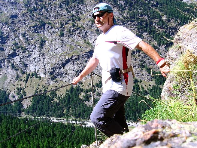 Foto: Andreas Koller / Klettersteigtour / Erlebnisweg Almagellerhorn (1999 m) / 07.09.2009 23:09:47