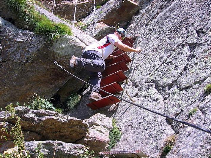 Foto: Andreas Koller / Klettersteigtour / Erlebnisweg Almagellerhorn (1999 m) / 07.09.2009 23:09:29