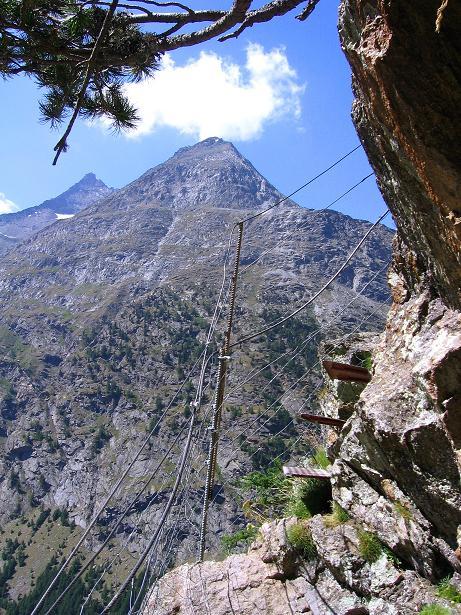 Foto: Andreas Koller / Klettersteig Tour / Erlebnisweg Almagellerhorn (1999 m) / 07.09.2009 23:09:12