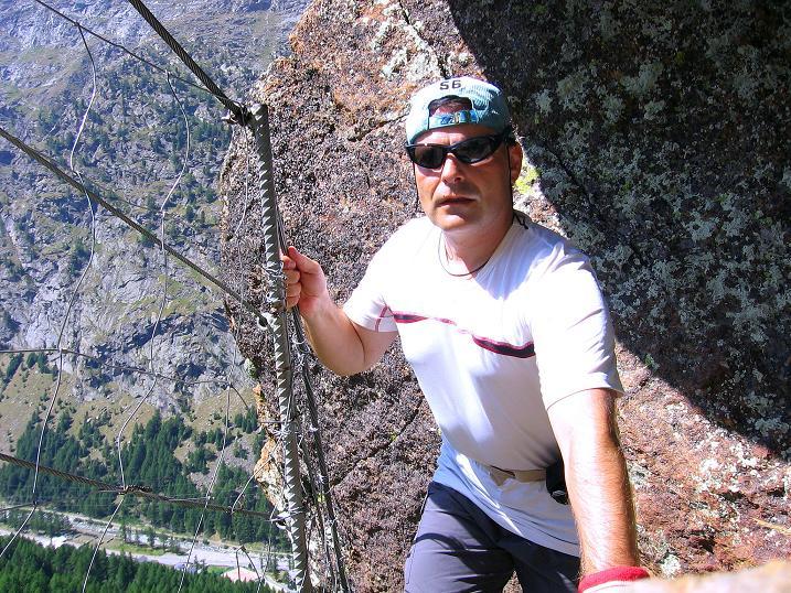 Foto: Andreas Koller / Klettersteig Tour / Erlebnisweg Almagellerhorn (1999 m) / 07.09.2009 23:08:51