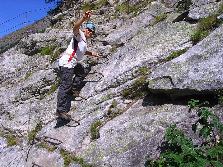 Foto: Andreas Koller / Klettersteig Tour / Erlebnisweg Almagellerhorn (1999 m) / 07.09.2009 23:05:02
