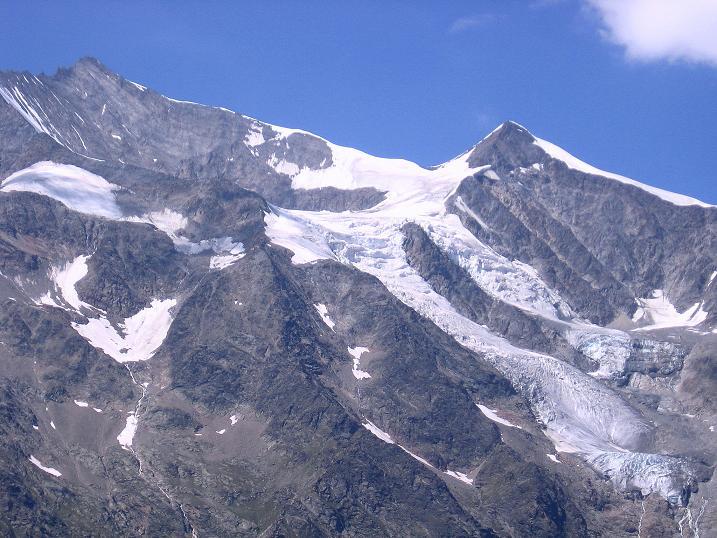 Foto: Andreas Koller / Klettersteigtour / Erlebnisweg Almagellerhorn (1999 m) / Nadelhorn (4327 m) und Ulrichshorn (3925 m) / 07.09.2009 23:04:53