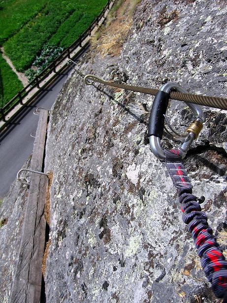 Foto: Andreas Koller / Klettersteig Tour / Mini-Klettersteig Saas Grund (1670 m) / 03.09.2009 20:33:27