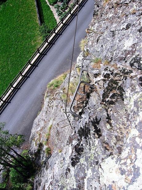 Foto: Andreas Koller / Klettersteig Tour / Mini-Klettersteig Saas Grund (1670 m) / 03.09.2009 20:33:22