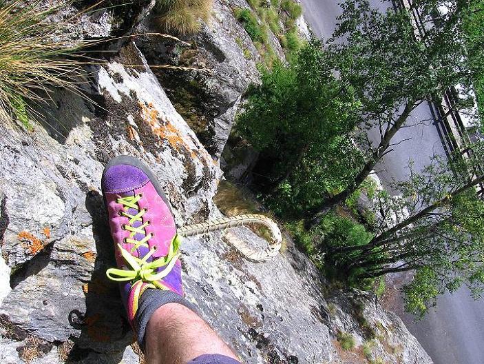 Foto: Andreas Koller / Klettersteig Tour / Mini-Klettersteig Saas Grund (1670 m) / 03.09.2009 20:33:15