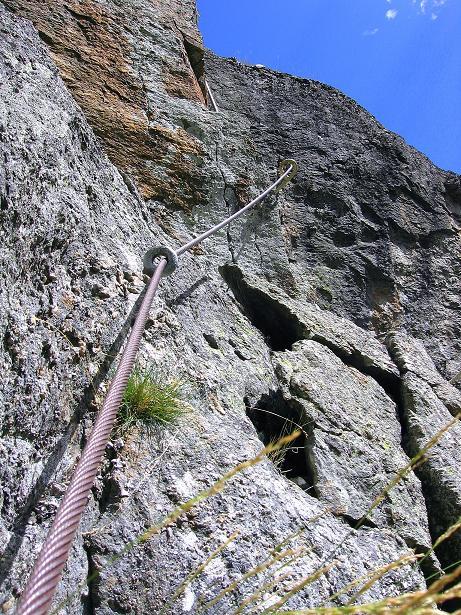 Foto: Andreas Koller / Klettersteig Tour / Mini-Klettersteig Saas Grund (1670 m) / 03.09.2009 20:33:08