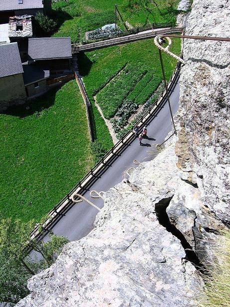 Foto: Andreas Koller / Klettersteig Tour / Mini-Klettersteig Saas Grund (1670 m) / 03.09.2009 20:32:47