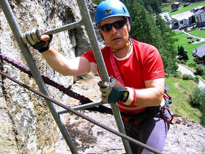Foto: Andreas Koller / Klettersteig Tour / Mini-Klettersteig Saas Grund (1670 m) / 03.09.2009 20:32:39