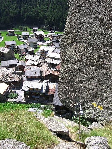 Foto: Andreas Koller / Klettersteig Tour / Mini-Klettersteig Saas Grund (1670 m) / 03.09.2009 20:32:32