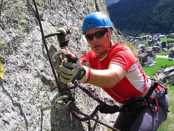 Foto: Andreas Koller / Klettersteig Tour / Mini-Klettersteig Saas Grund (1670 m) / 03.09.2009 20:32:24