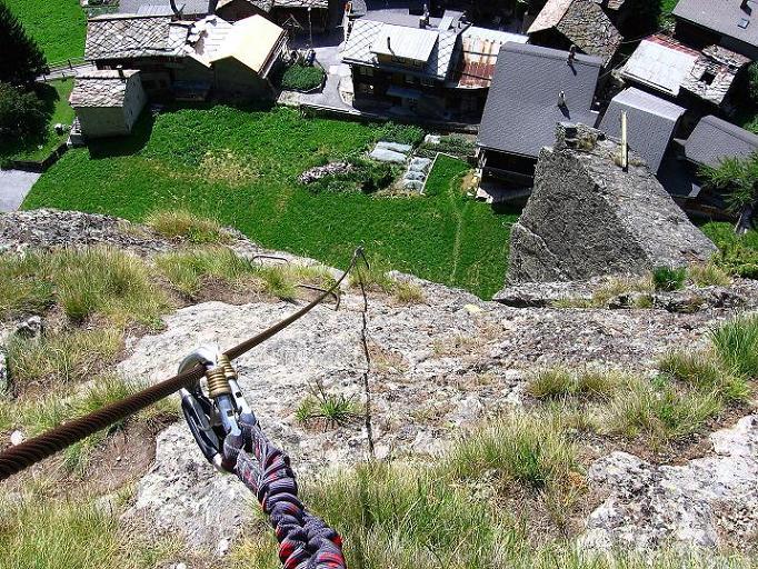 Foto: Andreas Koller / Klettersteig Tour / Mini-Klettersteig Saas Grund (1670 m) / 03.09.2009 20:32:15