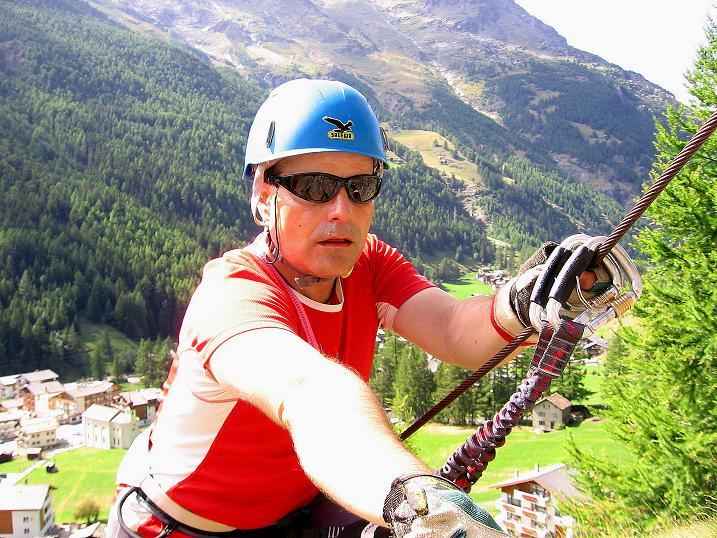 Foto: Andreas Koller / Klettersteig Tour / Mini-Klettersteig Saas Grund (1670 m) / 03.09.2009 20:32:06