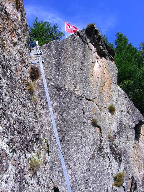 Foto: Andreas Koller / Klettersteig Tour / Mini-Klettersteig Saas Grund (1670 m) / 03.09.2009 20:31:59