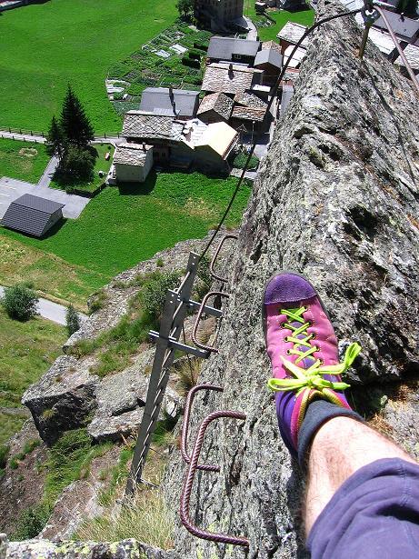 Foto: Andreas Koller / Klettersteig Tour / Mini-Klettersteig Saas Grund (1670 m) / 03.09.2009 20:31:50