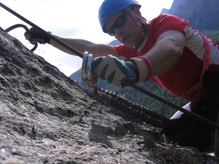 Foto: Andreas Koller / Klettersteig Tour / Mini-Klettersteig Saas Grund (1670 m) / 03.09.2009 20:31:41
