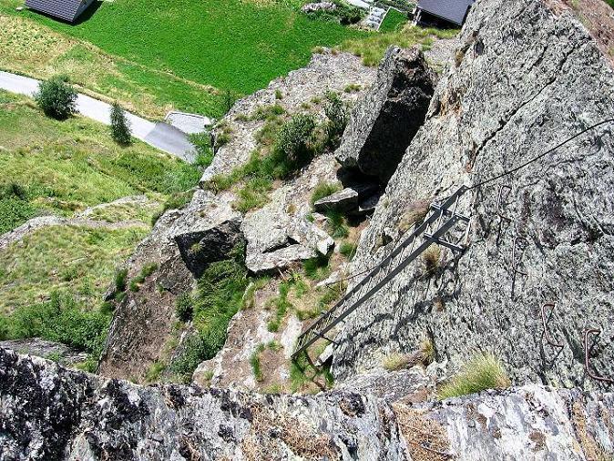 Foto: Andreas Koller / Klettersteig Tour / Mini-Klettersteig Saas Grund (1670 m) / 03.09.2009 20:31:34