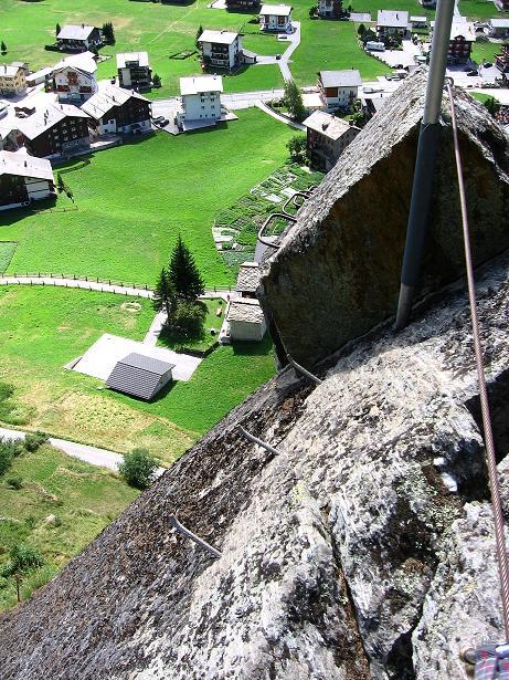 Foto: Andreas Koller / Klettersteig Tour / Mini-Klettersteig Saas Grund (1670 m) / 03.09.2009 20:31:26