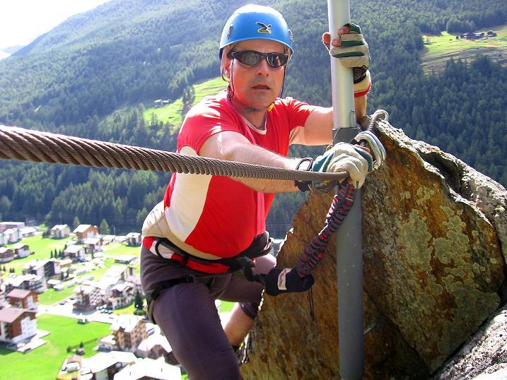 Foto: Andreas Koller / Klettersteig Tour / Mini-Klettersteig Saas Grund (1670 m) / 03.09.2009 20:31:18