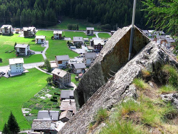 Foto: Andreas Koller / Klettersteig Tour / Mini-Klettersteig Saas Grund (1670 m) / 03.09.2009 20:31:12