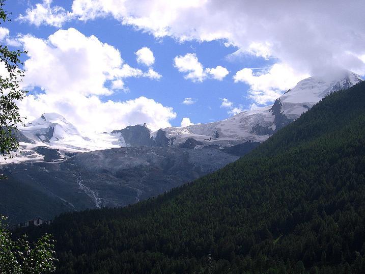 Foto: Andreas Koller / Klettersteig Tour / Mini-Klettersteig Saas Grund (1670 m) / Allalinhorn (4027 m) und Alphubel (4206 m) / 03.09.2009 20:30:40