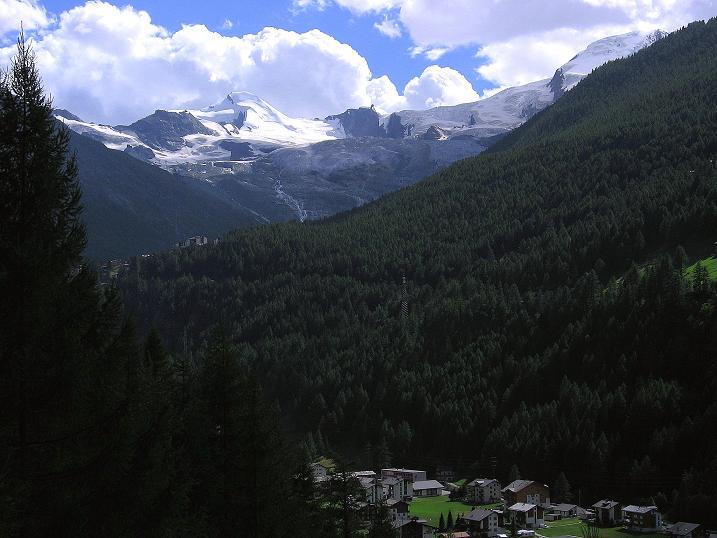 Foto: Andreas Koller / Klettersteig Tour / Mini-Klettersteig Saas Grund (1670 m) / Saaser 4000er um Allalinhorn (4027 m) und Alphubel (4206 m) / 03.09.2009 20:29:44