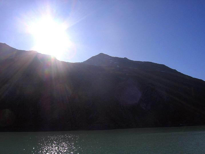 Foto: Andreas Koller / Wander Tour / Stelli - Aussichtsloge über dem Stausee Mattmark (3357 m) / 03.09.2009 23:40:04