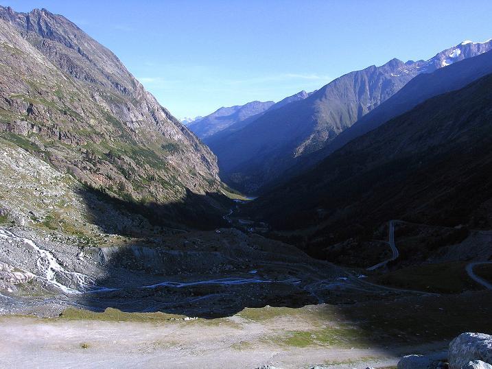 Foto: Andreas Koller / Wander Tour / Stelli - Aussichtsloge über dem Stausee Mattmark (3357 m) / 03.09.2009 23:39:55
