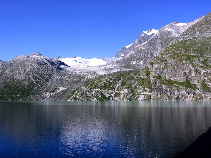 Foto: Andreas Koller / Wander Tour / Stelli - Aussichtsloge über dem Stausee Mattmark (3357 m) / 03.09.2009 23:39:50
