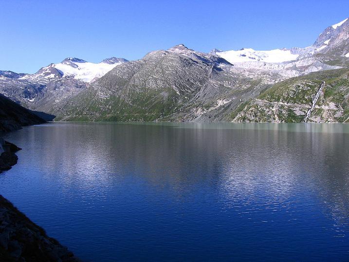 Foto: Andreas Koller / Wander Tour / Stelli - Aussichtsloge über dem Stausee Mattmark (3357 m) / Ausgangspunkt: Stausee Mattmark / 03.09.2009 23:40:33