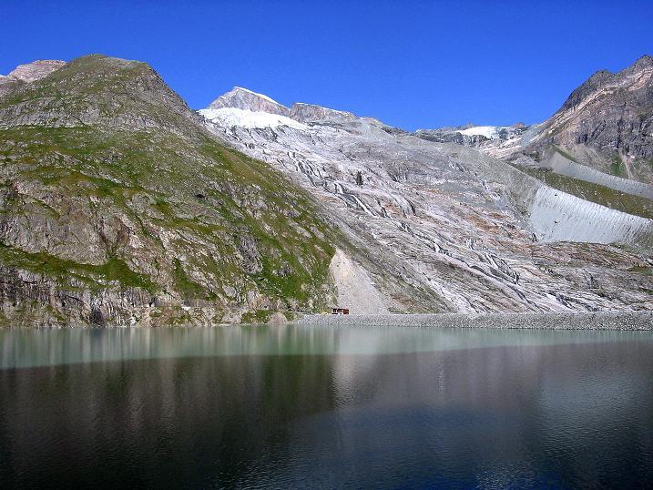 Foto: Andreas Koller / Wander Tour / Stelli - Aussichtsloge über dem Stausee Mattmark (3357 m) / 03.09.2009 23:39:41