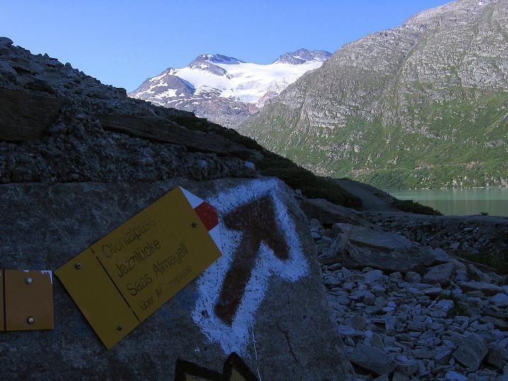 Foto: Andreas Koller / Wander Tour / Stelli - Aussichtsloge über dem Stausee Mattmark (3357 m) / 03.09.2009 23:39:34