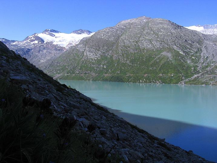 Foto: Andreas Koller / Wander Tour / Stelli - Aussichtsloge über dem Stausee Mattmark (3357 m) / Stausee Mattmark / 03.09.2009 23:39:27