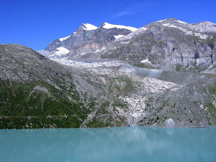 Foto: Andreas Koller / Wander Tour / Stelli - Aussichtsloge über dem Stausee Mattmark (3357 m) / 03.09.2009 23:38:59