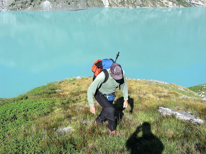 Foto: Andreas Koller / Wander Tour / Stelli - Aussichtsloge über dem Stausee Mattmark (3357 m) / 03.09.2009 23:38:52