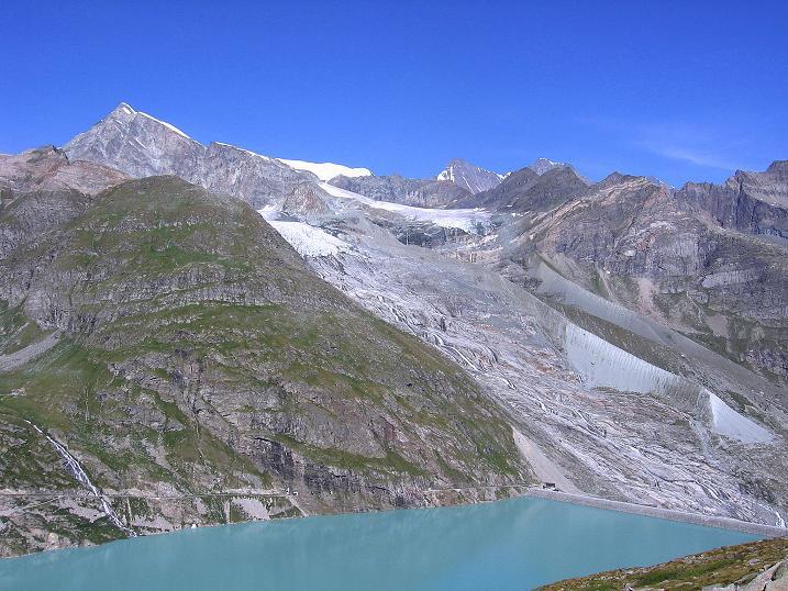 Foto: Andreas Koller / Wander Tour / Stelli - Aussichtsloge über dem Stausee Mattmark (3357 m) / 03.09.2009 23:38:44