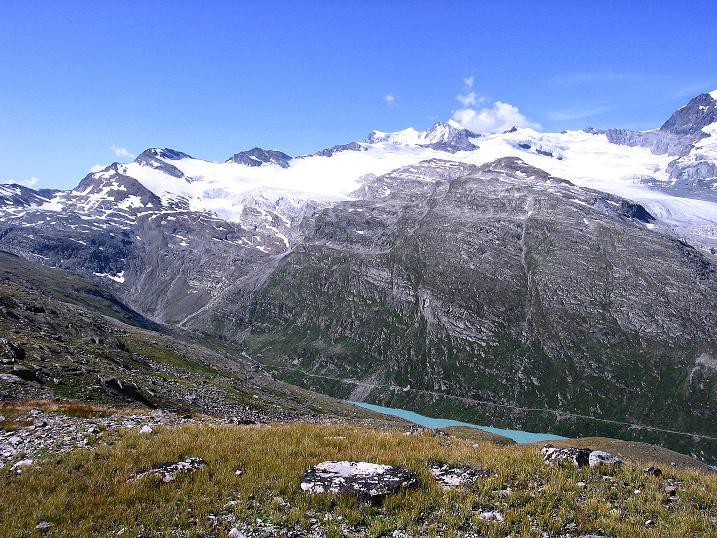 Foto: Andreas Koller / Wander Tour / Stelli - Aussichtsloge über dem Stausee Mattmark (3357 m) / 03.09.2009 23:37:37