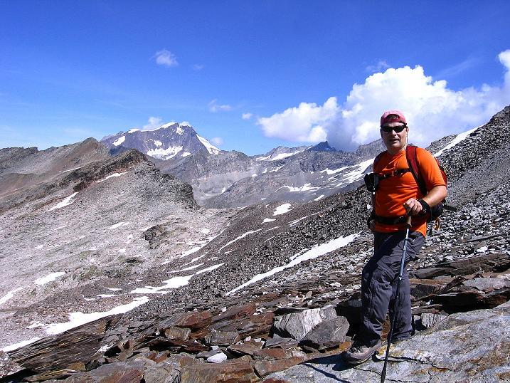 Foto: Andreas Koller / Wander Tour / Stelli - Aussichtsloge über dem Stausee Mattmark (3357 m) / Weißmies (4023 m) / 03.09.2009 23:35:01