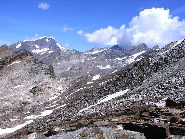 Foto: Andreas Koller / Wander Tour / Stelli - Aussichtsloge über dem Stausee Mattmark (3357 m) / 03.09.2009 23:34:40