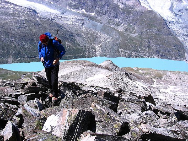 Foto: Andreas Koller / Wander Tour / Stelli - Aussichtsloge über dem Stausee Mattmark (3357 m) / 03.09.2009 23:32:37